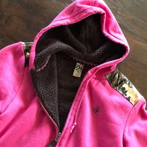NWOT legendary whitetails camo fleece zip up
